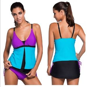 Other - NWT 2 Piece Tankini Push-Up Support Bathing Suit L